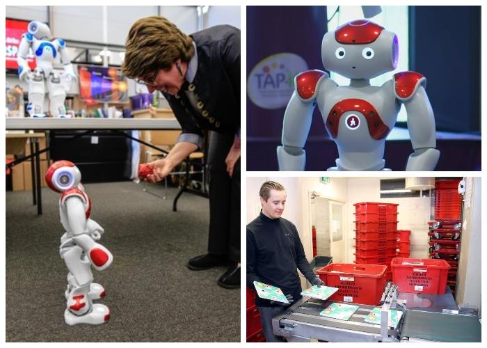 Роботи-помічники бібліотеки Oodi